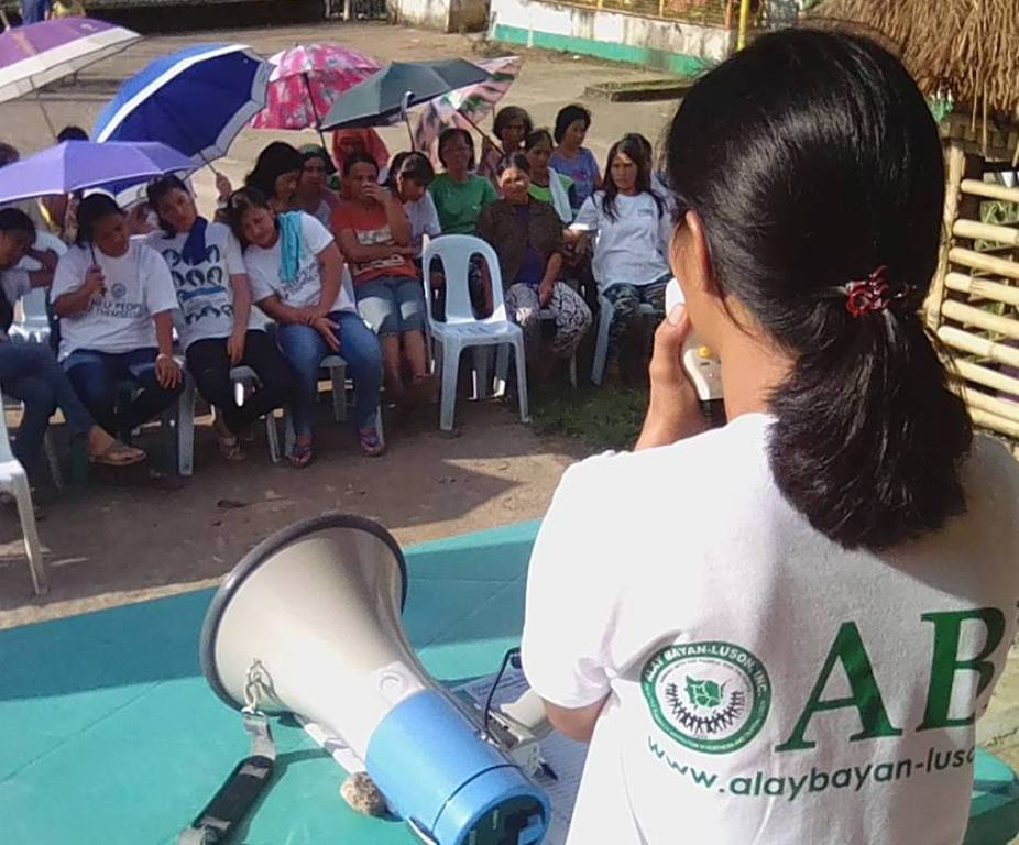 Development workers from ABI lead the relief distribution in La Union, one of the provinces hit by the two recent typhoons. (Photo courtesy of ABI Facebook Page)
