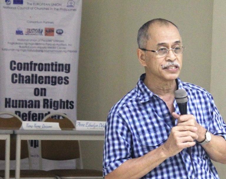 Bonifacio Ilagan sharing his experiences during martial law. (Photo by BULATLAT)