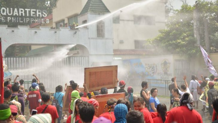 'Paranoia' | Protest vs. Oplan Bayanihan met with water cannons
