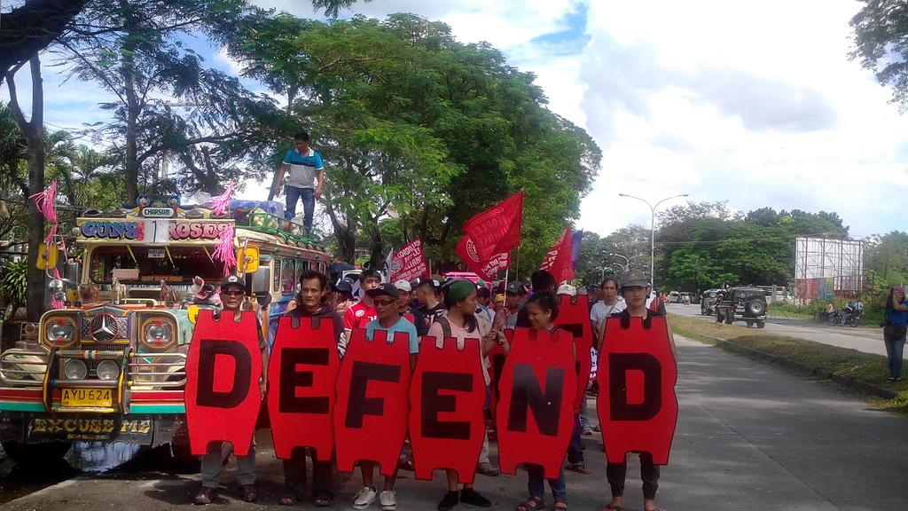 Cordilleran contingent march in Tarlac City (Photo by Kim Quitasol/Northern Dispatch Weekly)
