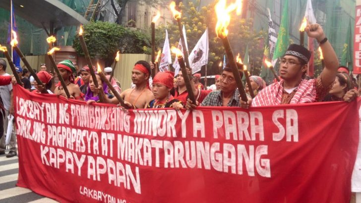 National minorities' call for right to ancestral lands, self-determination echoes in Manila