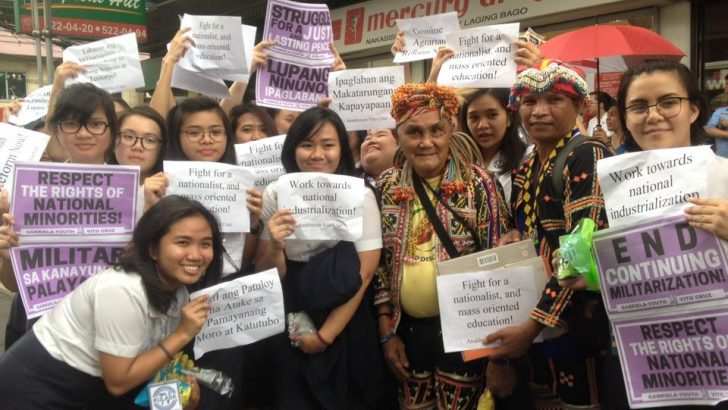 UP, 'Taft and U-belt' students welcome national minorities in Manila