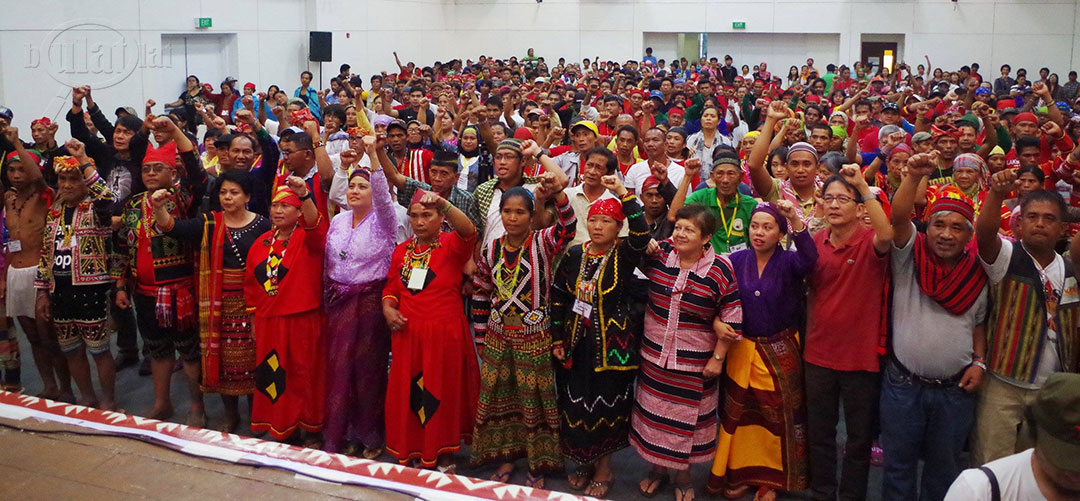 In a historic gathering, indigenous peoples and Moro form an alliance of national minority in defense of ancenstral lands and right to self-determination. (Photo by Fred Dabu/Bulatlat)