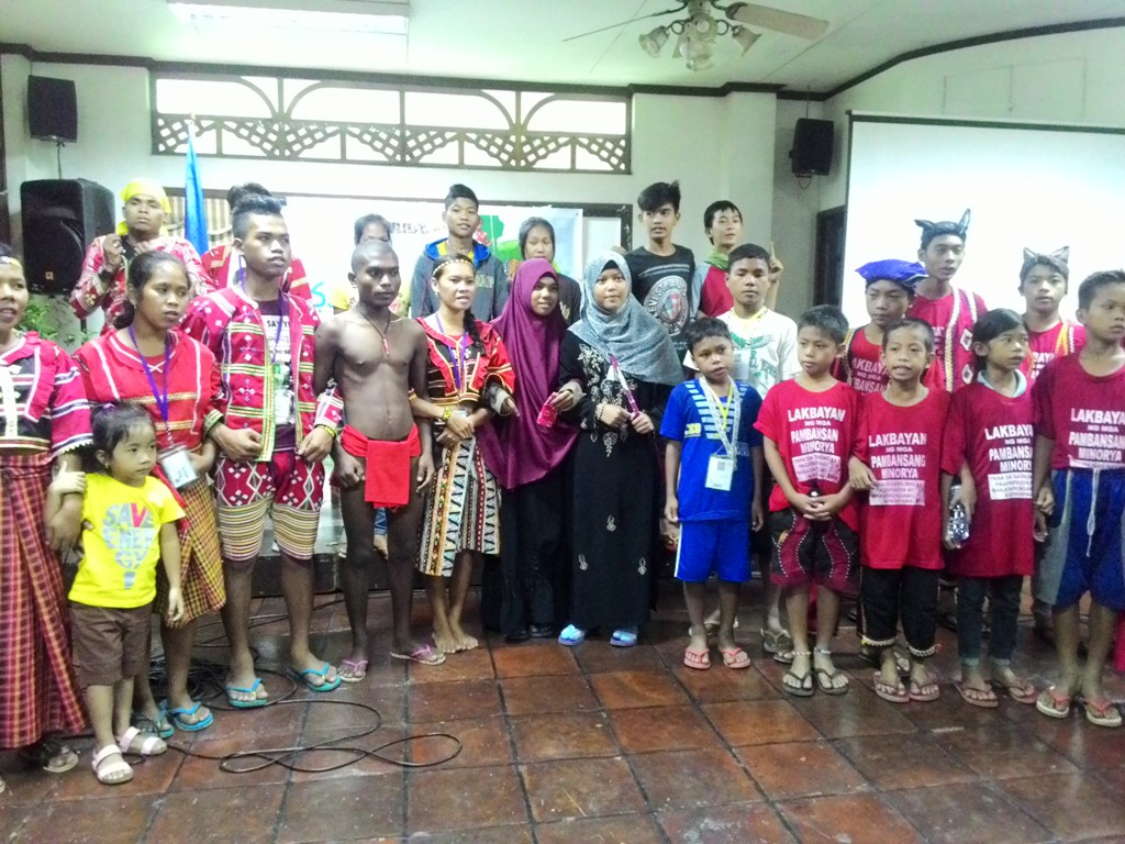 The children of national minorities from Luzon, Visayas and Mindanao vow to fight for their right to self-determination and ancestral land. (Photo by BULATLAT)