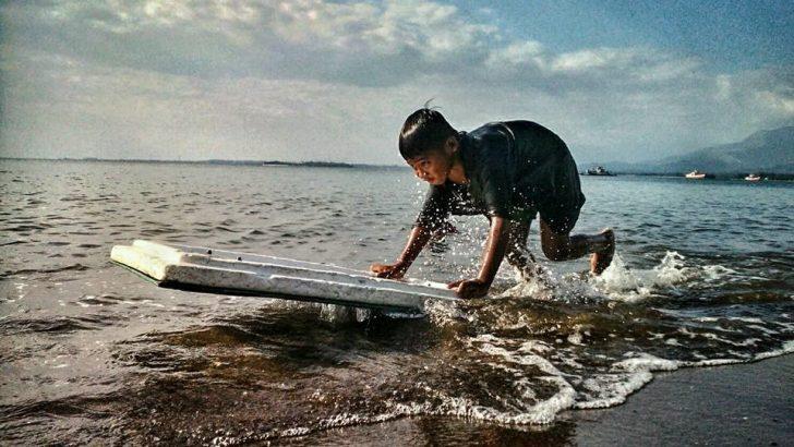 Kiddie surfboarding