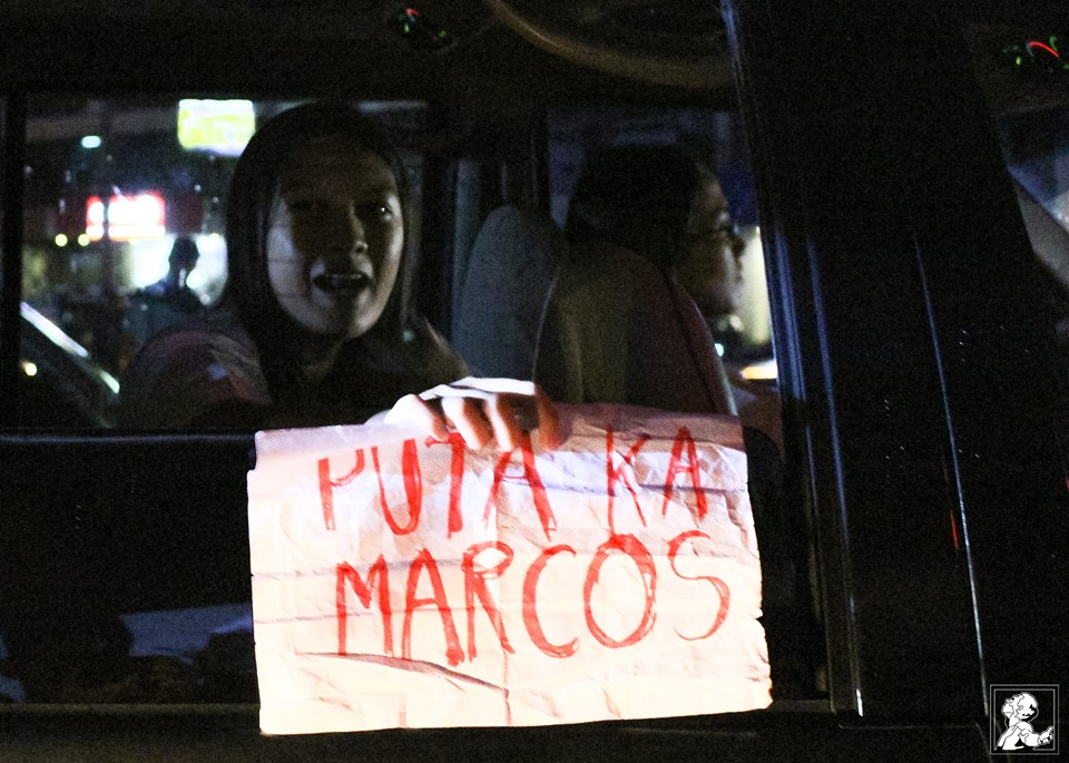 """A FAVORITE WORD. """"Puta"""" translates to bitch, a favorite cuss word of the President. (Photo courtesy of Philippine Collegian)"""