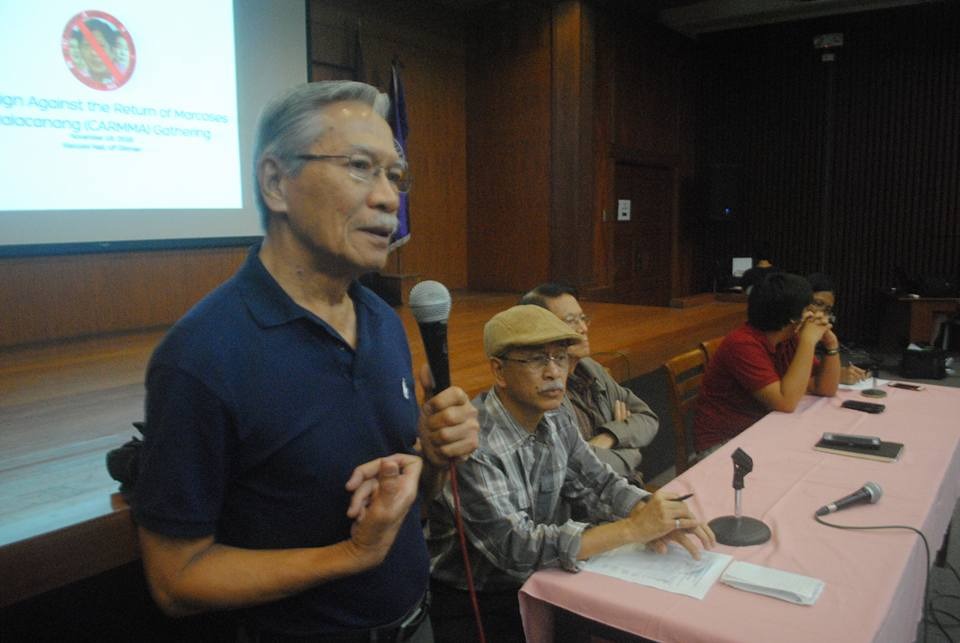 Makabayan Coalition President Satur Ocampo (Photo courtesy of Lito Ocampo)