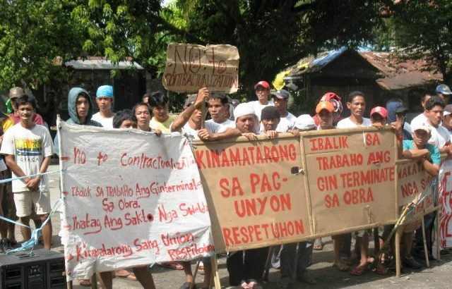 Negros sugar mill workers show sorry state of contractual workers