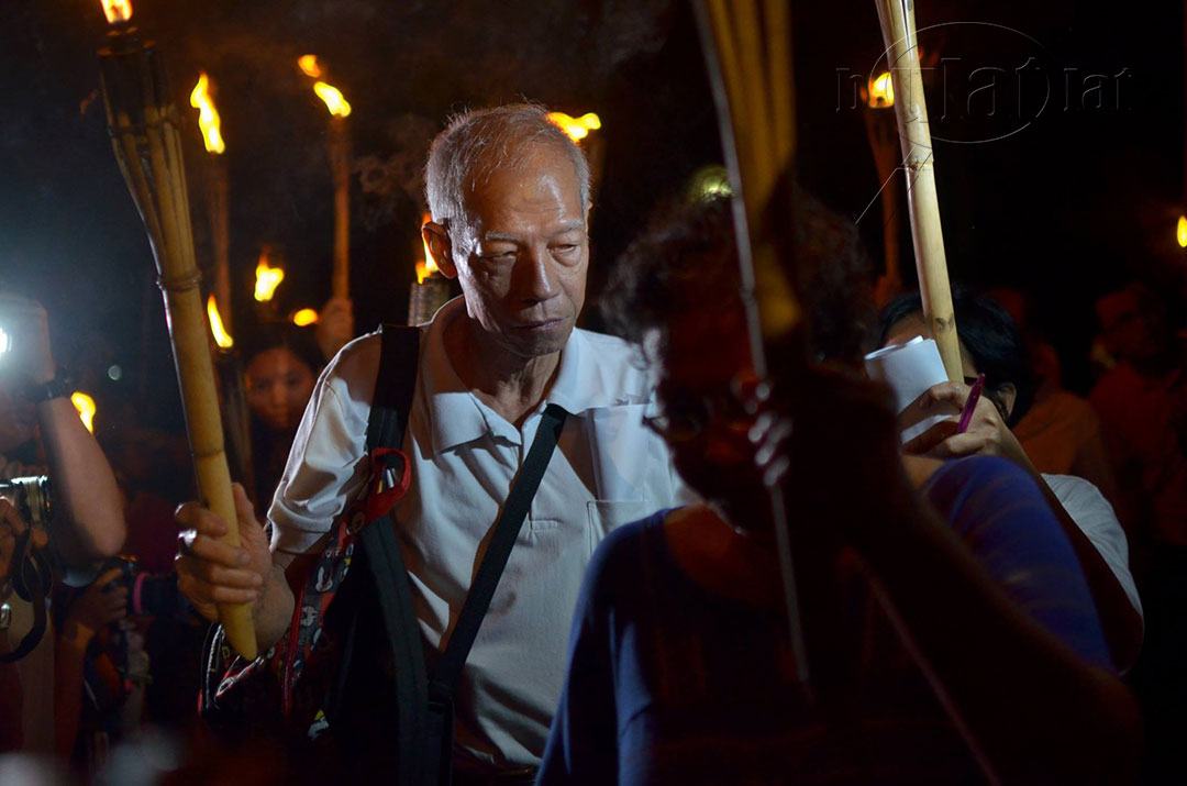 Martial law victim Felix Dalisay remembers his colleagues who already died without seeing justice. (Photo by Loi Manalansan / Bulatlat)