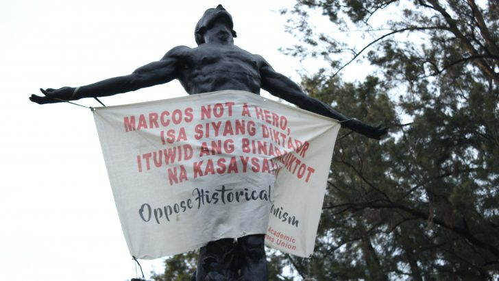 Outside Manila, protesters denounce hero's burial for Marcos