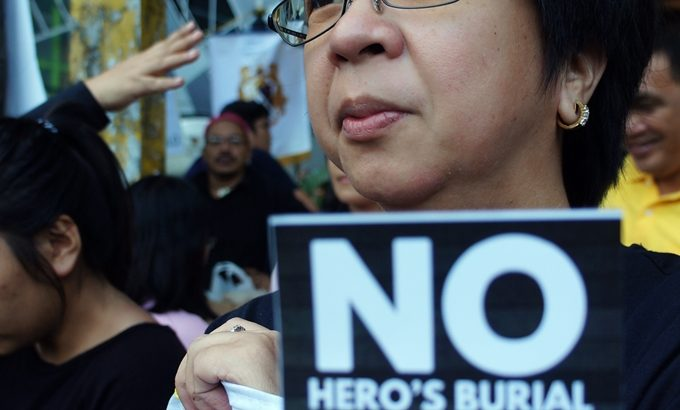 #BlackToBlock | Bar candidates, lawyers 'mourn' SC decision allowing Marcos hero's burial