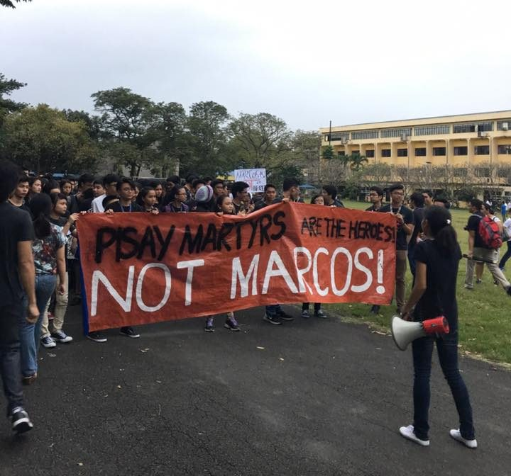 "Students of PSHS, or ""Pisay"" march out of their classrooms into the campus grounds (Photo courtesy of Giovanni Tapang)"