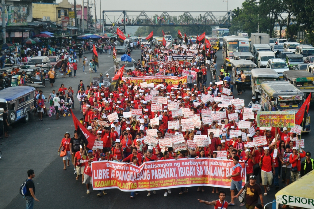 Lakbayanis in Commonwealth on Dec. 5, first day of their protest. (Contributed photo)