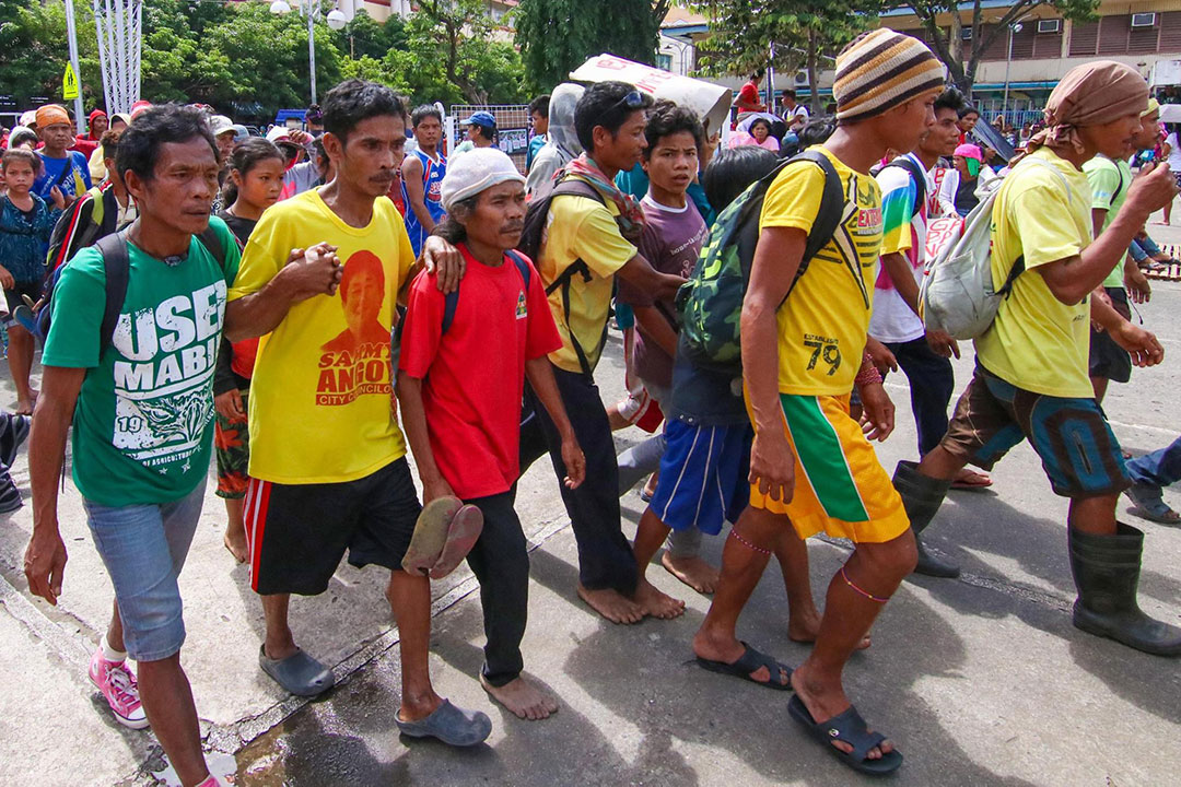 Farmers from different provinces in Mindanao troop to Davao City to demand calamity aid, land reform. (Photo courtesy of Kilusang Magbubukid ng Pilipinas)