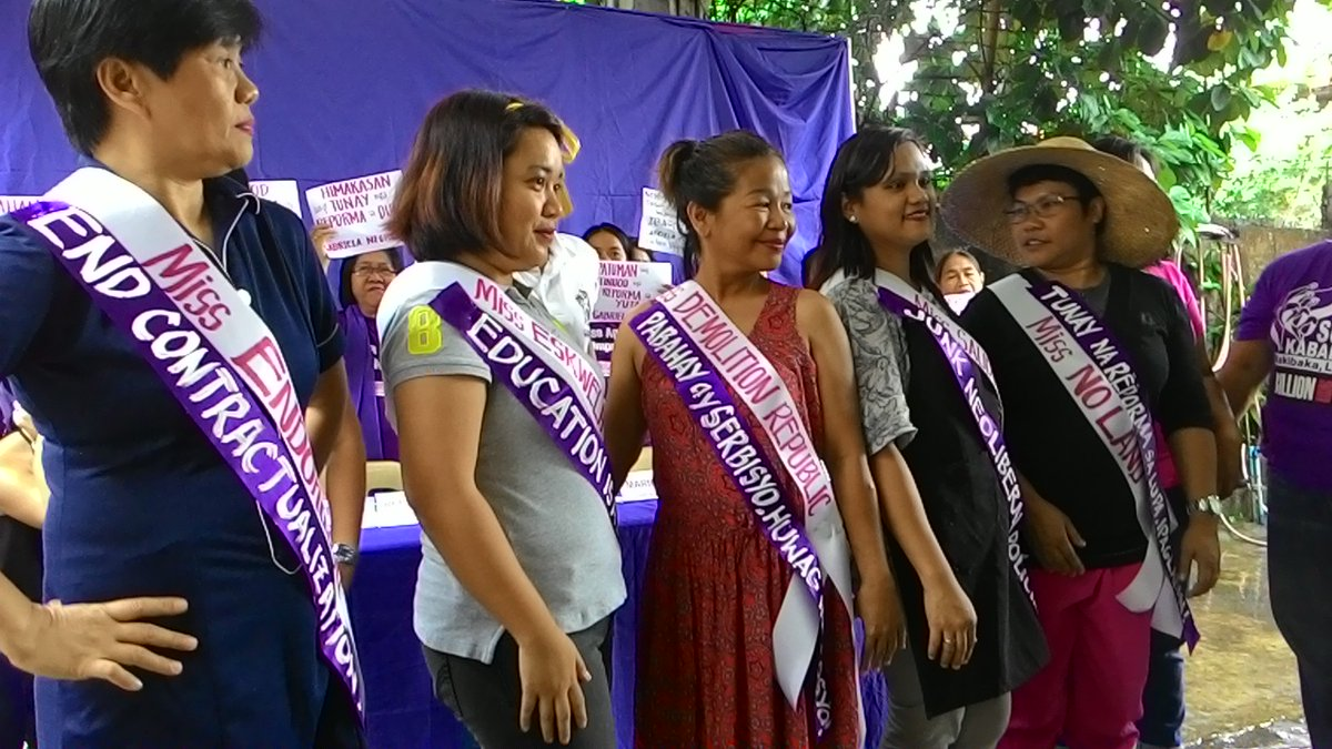 Miss Neolibers. (Photo grabbed from Gabriela Women's Party Twitter account)