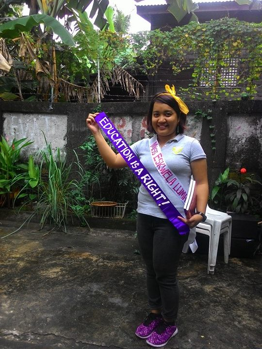 Miss Eskwela Lumpoor. (Photo by BULATLAT)