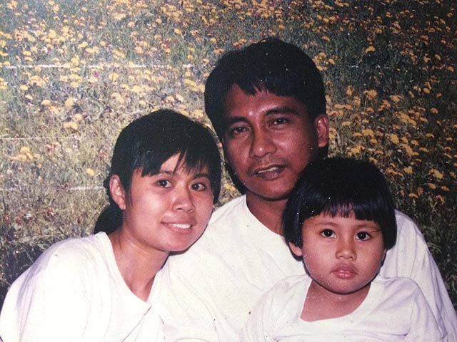 Nona, Ferdinand and their daughter Belle sometime in the early '90s. (Photo courtesy of Castillo family)