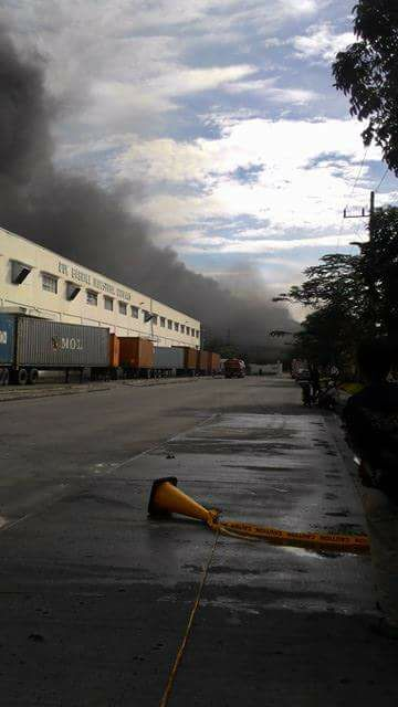 Cavite Export Processing Zone, HTI fire (Contributed Photo)