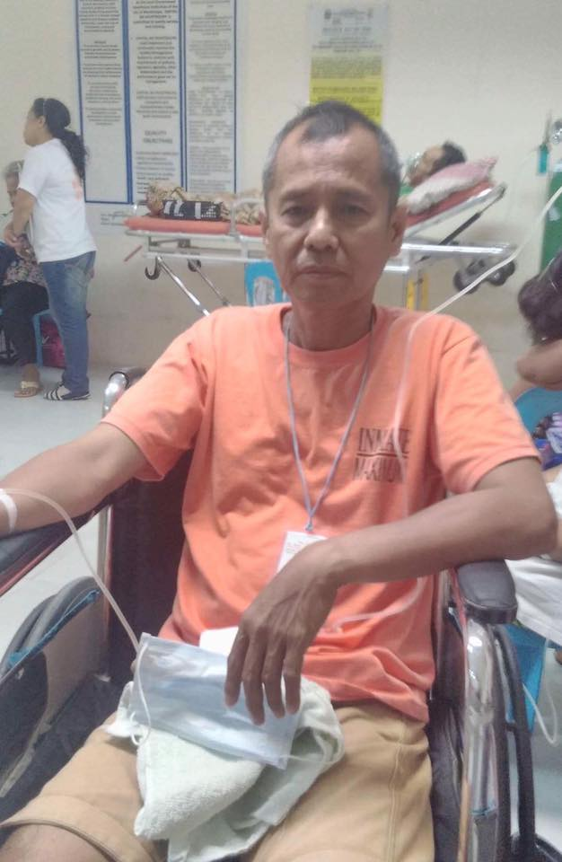 NDFP peace consultant Emeterio Antalan at the Ospital ng Muntinlupa (Contributed photo)