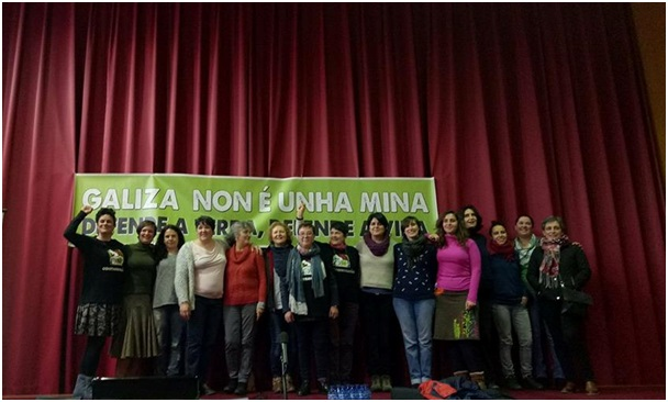Women from YLNM, ContraminAccion, and local Galician organizations who participated in the Public Meeting about the Impacts of Mining. (Photo by Enteng Bautista/Kalikasan PNE)