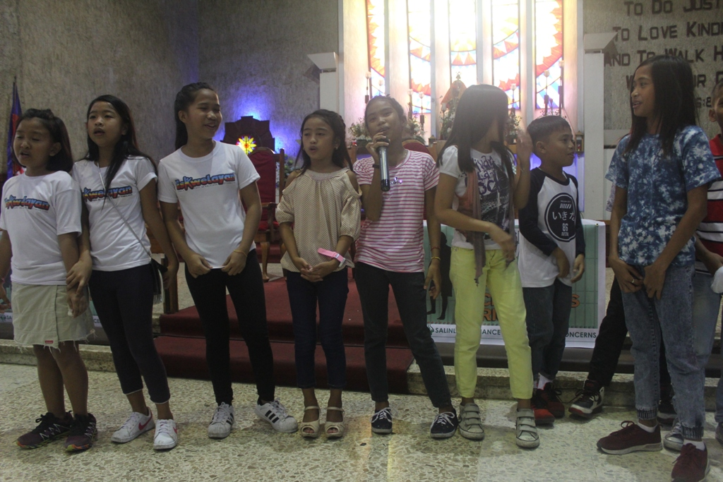 The children joined church groups and child rights advocates in the gathering held at the Iglesia Filipina Independiente Cathedral in Manila on March 4.