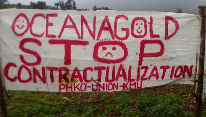 Mine workers hit 'contractualization'