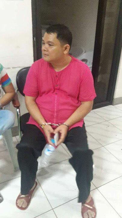 HANDCUFFED. IFI Bishop Carlo Morales of the Diocese of Ozamis City, still handcuffed at the police detention. (Contributed photo)