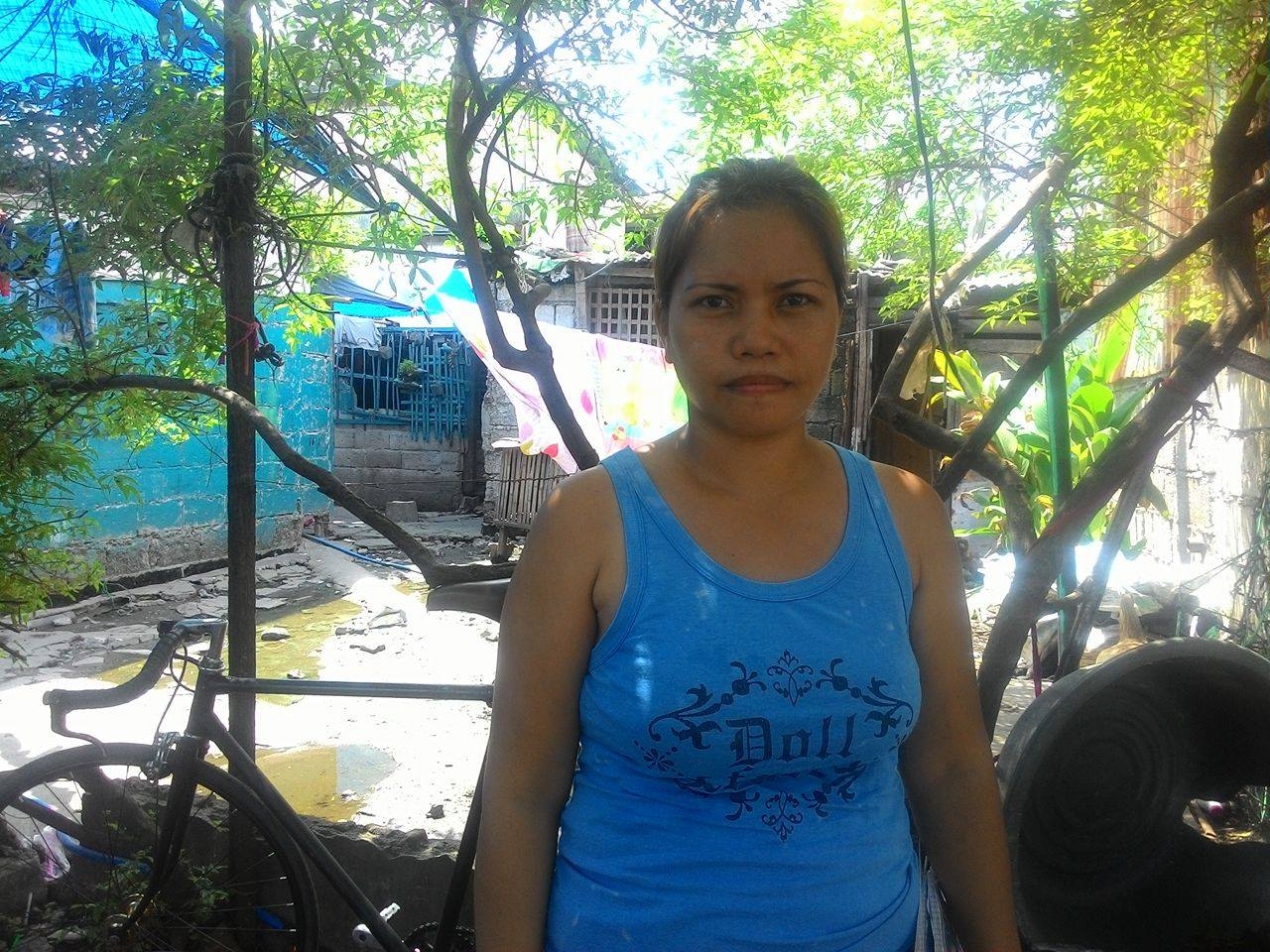 Angie Daquiado, one of the residents affected of the demolition. (Photo by A. Umil/ Bulatlat)