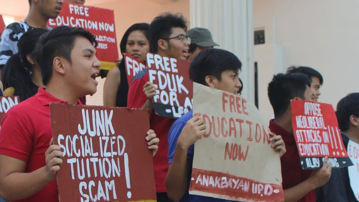 UP students condemn 'sham' free tuition policy