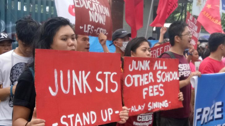 Students camp out of Ched office to call for free education