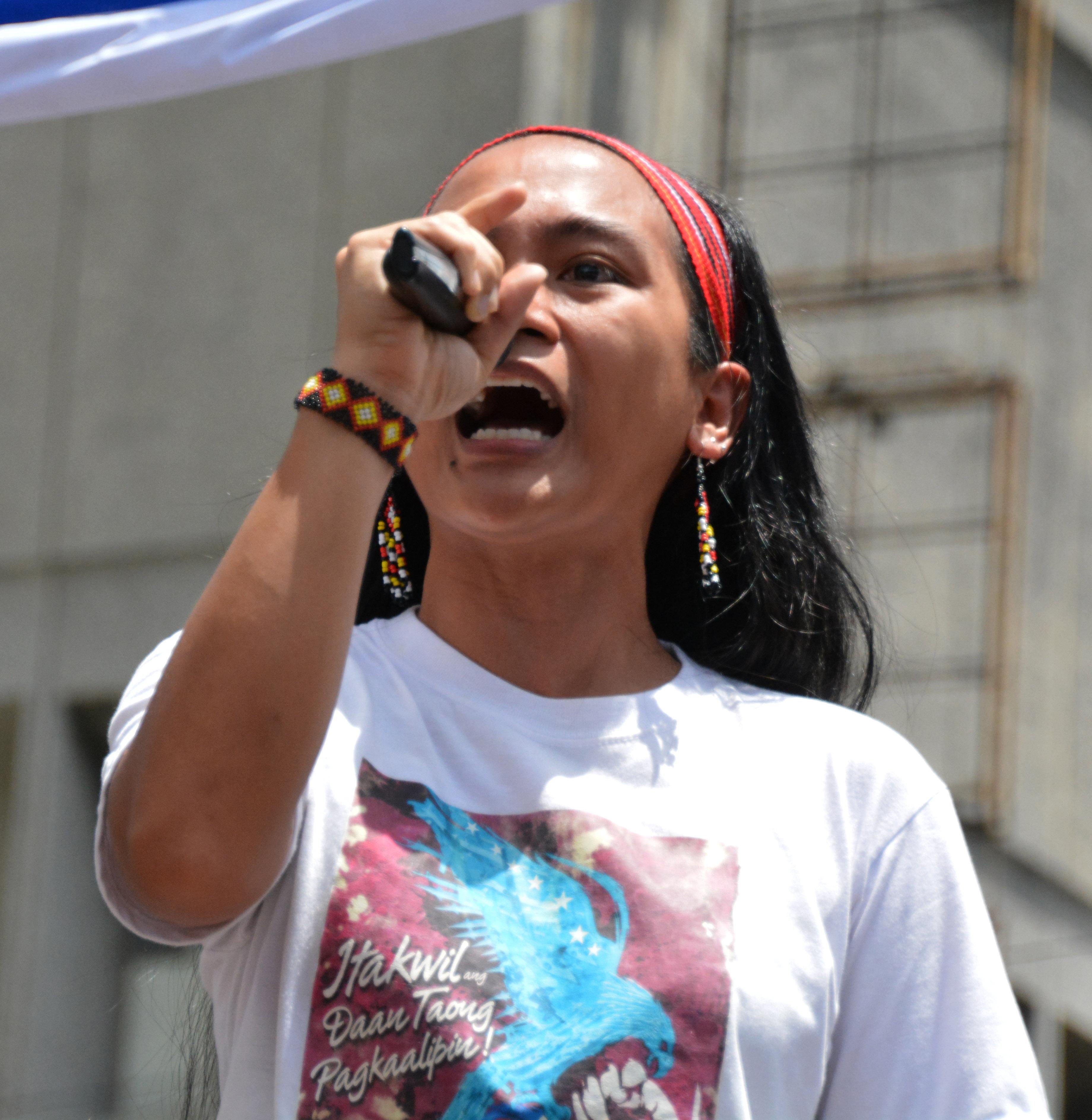 Sandugo convenor Piya Macliing Malayao (Photo by Mary Angelique Tacata/Bulatlat)