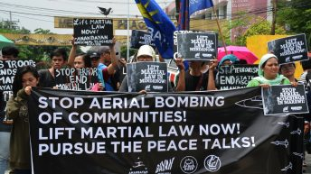 Black Friday protest | Youth groups call for end to martial law in Mindanao