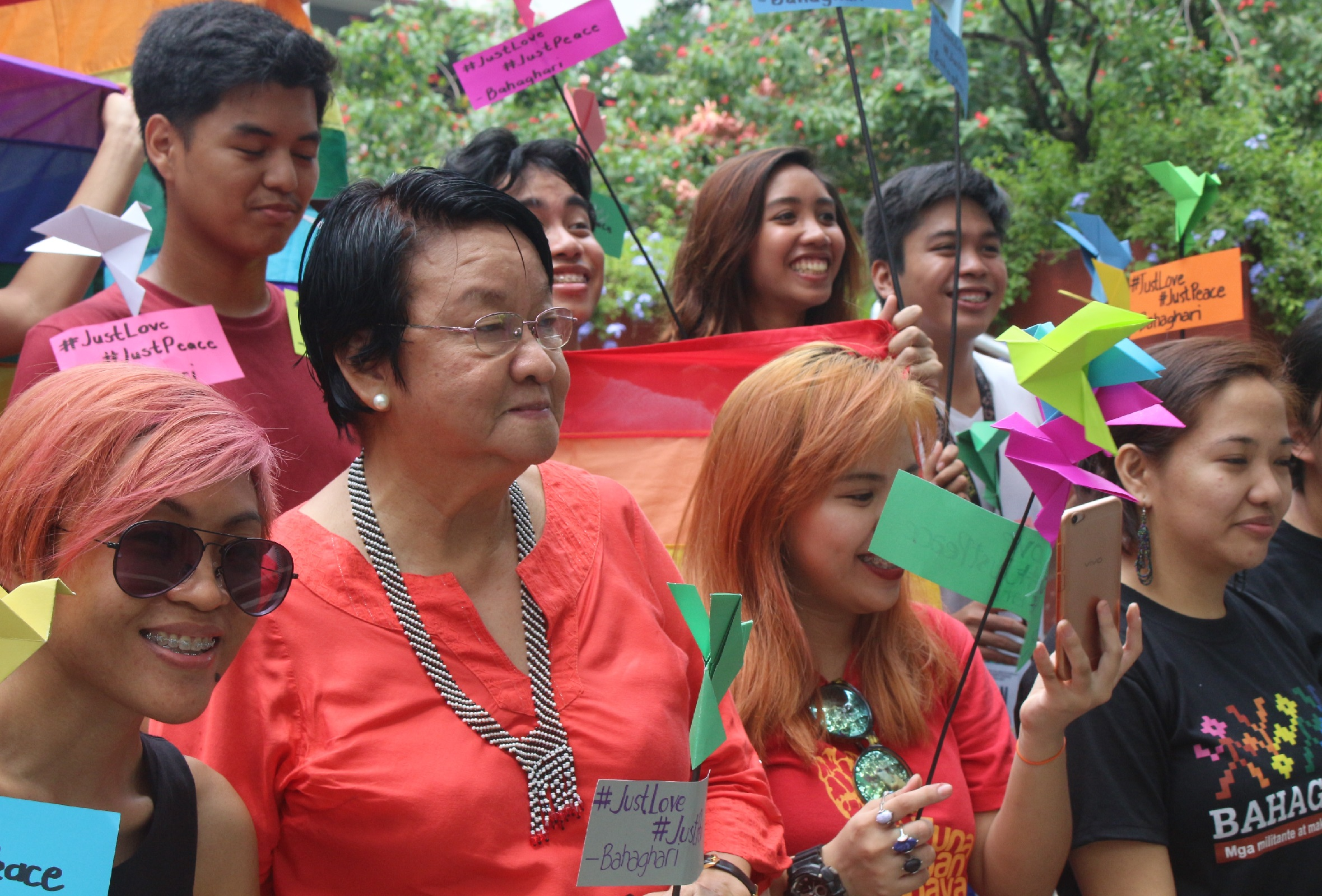 Social Welfare Secretary Judy Taguiwalo at the candle-lighting gathering in UP Diliman before the Pride March in Marikina City (Photo by Daniel Boone/Bulatlat)