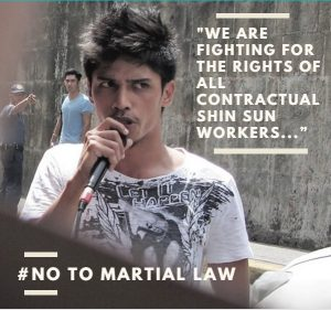 Workers against Martial Law