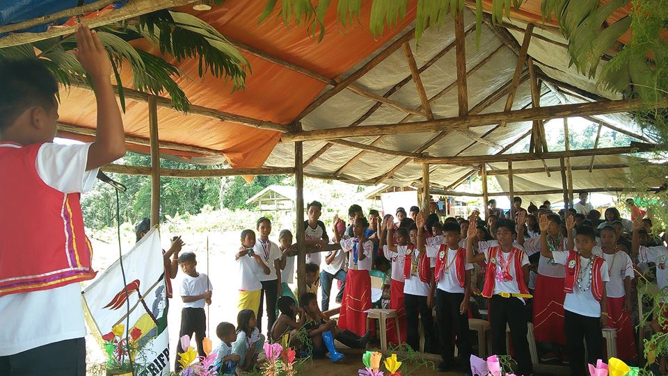 Graduation in Tribal Filipino Program of Surigao del Sur (TRIFPSS last March this year. (Photo grabbed from TRIFPSS Facebook page.)