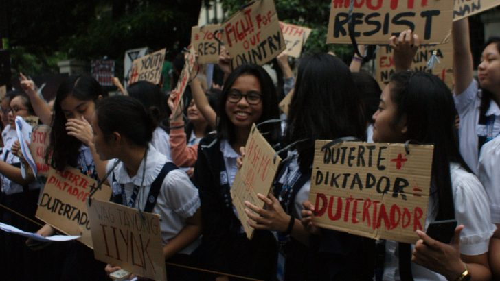 Youths condemn drug killings ahead of Duterte's SONA