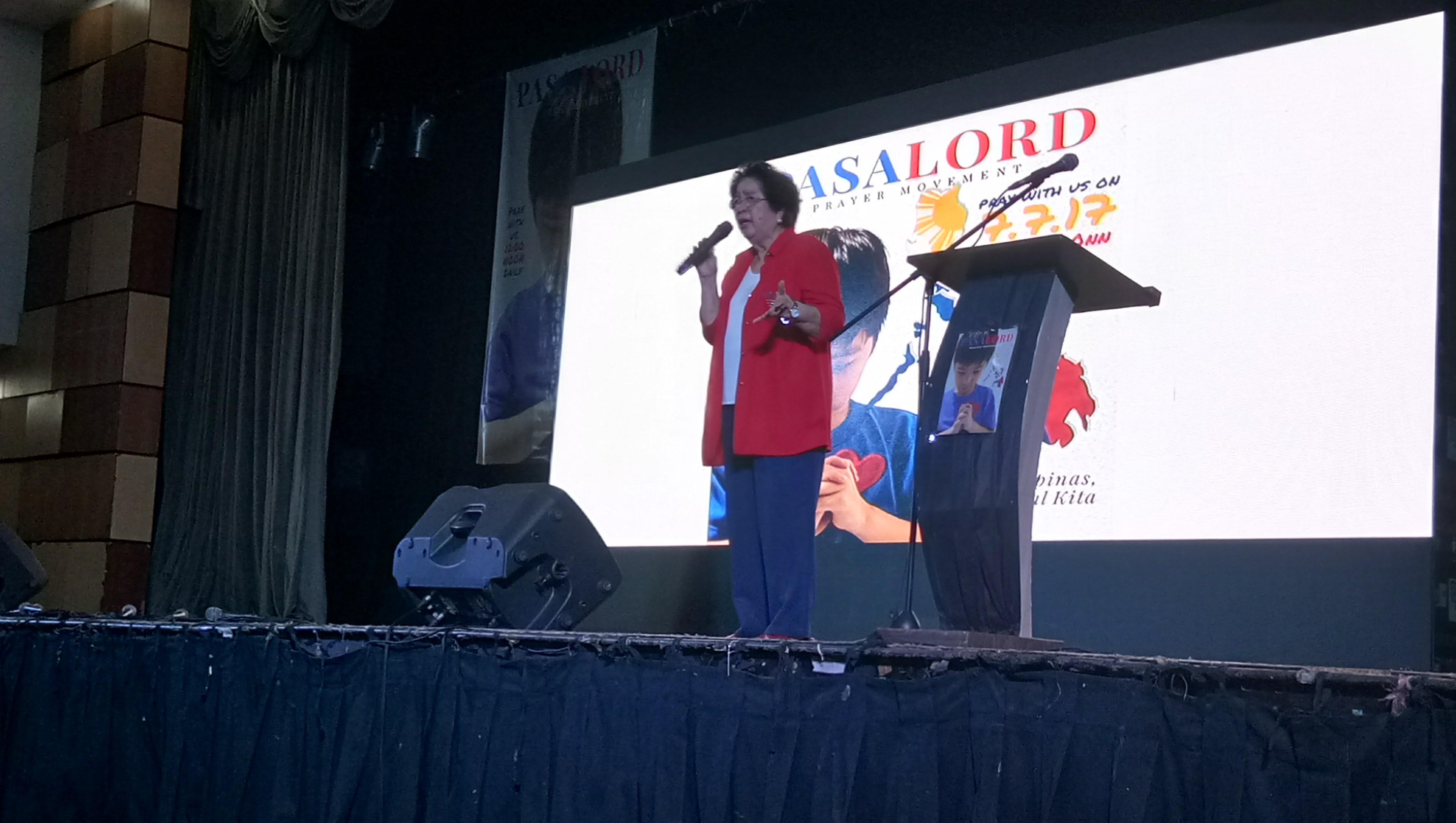"PasaLord Prayer Movement convenor Lourdes ""Bing"" Pimentel (Photo by Dannah Denise Agustin/Bulatlat)"