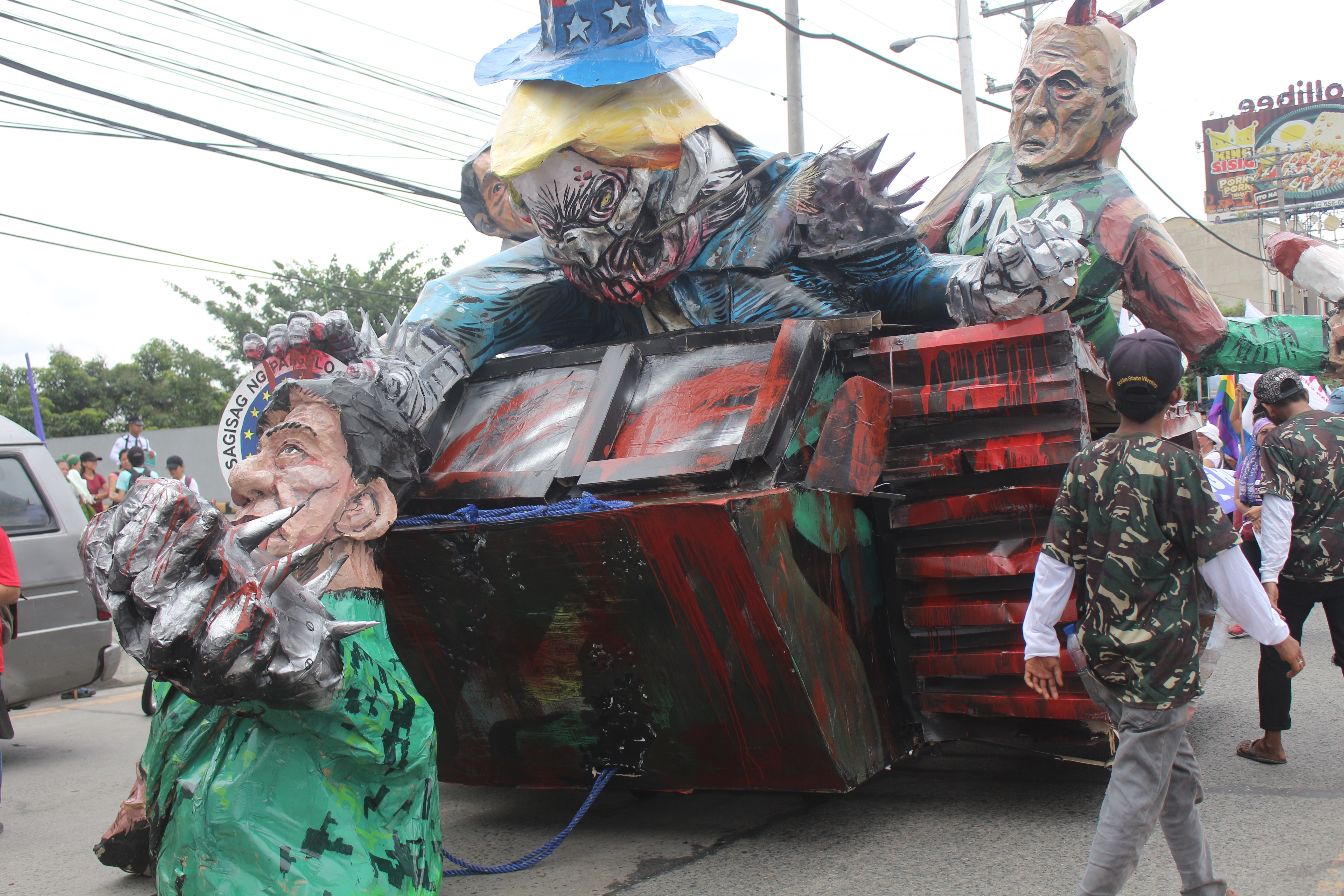 The sona 2017 finished effigy (Photo by Daniel Boone/Bulatlat)