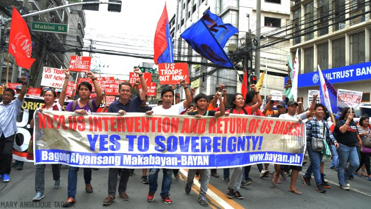 Fil-Am 'friendship' day | Progressive groups slam US military intervention in Marawi