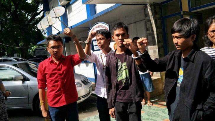 8 youth protesters arrested during Congress joint session on Mindanao martial law extension