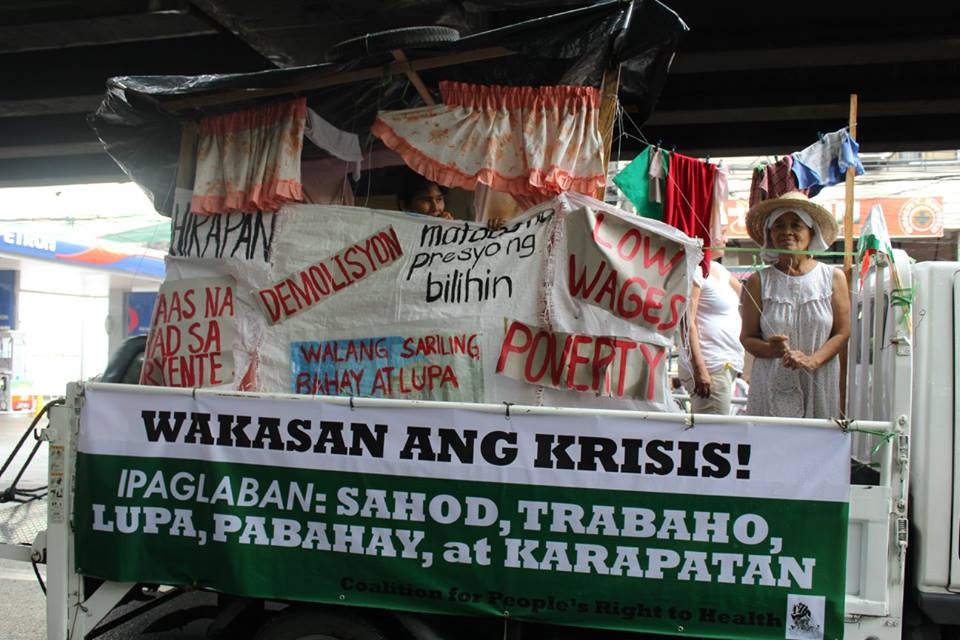 Float depicting poverty. (Contributed photo)