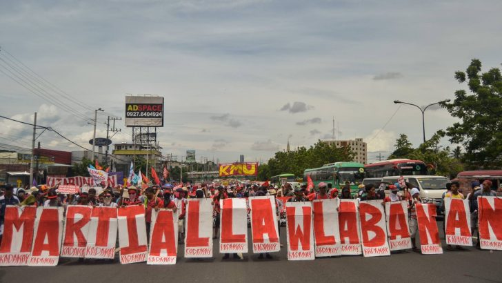 Broader protests against Duterte's militaristic drift