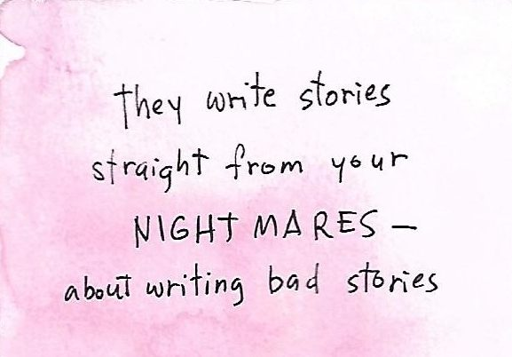 On writing bad fiction