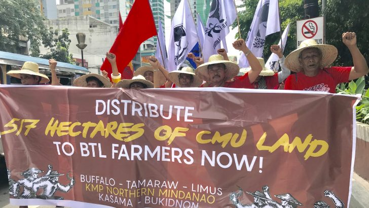 Bukidnon peasants camp out in Manila to assert right to land