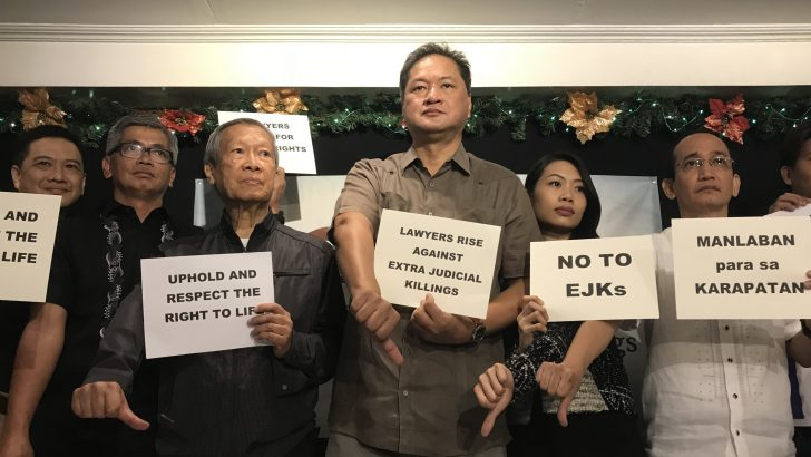 'Fighting back'   Legal community forms alliance vs EJKs, rights abuses