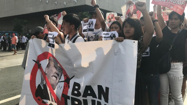 Youths protest near Asean venue in PICC