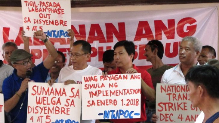 Transport Strike set against Govt 'PR' to replace, move jeepneys to big biz
