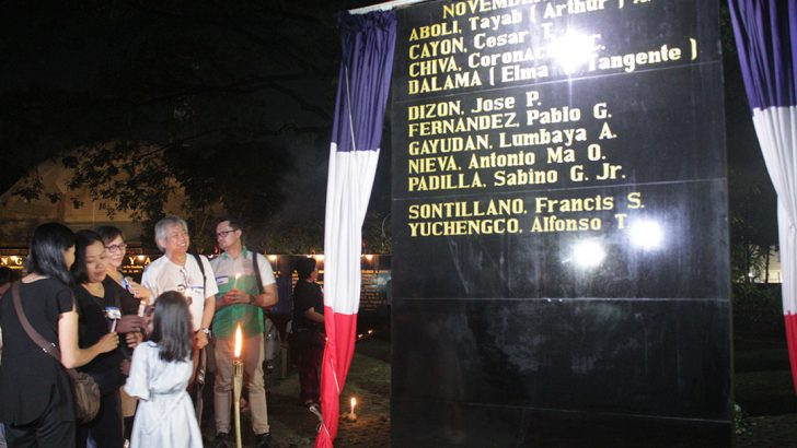 Heroes who fought the dictatorship honored at Bantayog ng mga Bayani