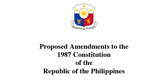 Hold public discussions on proposed amendments to 1987 Constitution