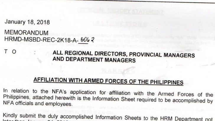 Rights group slams NFA memo forcing employees to submit personal info to military